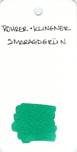 * GREEN ROHRER & KLINGNER SMARAGDGRUN