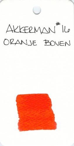 * ORANGE AKKERMAN ORANJE BOVEN 16