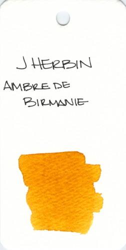 * ORANGE J HERBIN AMBRE DE BIRMANIE