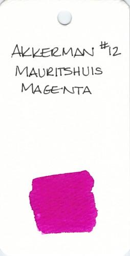 * PINK AKKERMAN MAURITSHUIS MAGENTA 12