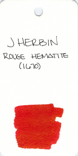* RED J HERBIN ROUGE HEMATITE