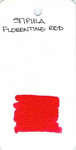 * RED STIPULA FLORENTINE RED