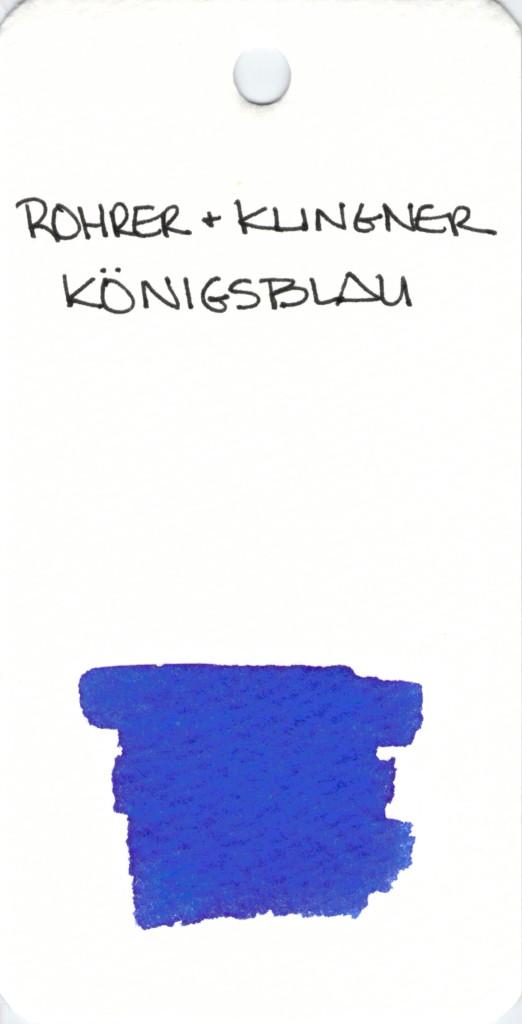 * BLUE ROHRER & KLINGNER KONGISBLAU